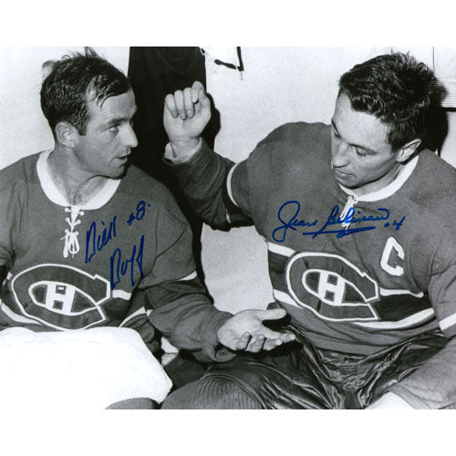 Dick Duff/Jean Beliveau Autographed 8X10 Combo Photo