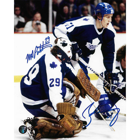 Mike Palmateer/Borje Salming Autographed Toronto Maple Leafs 8X10 Combo Photo