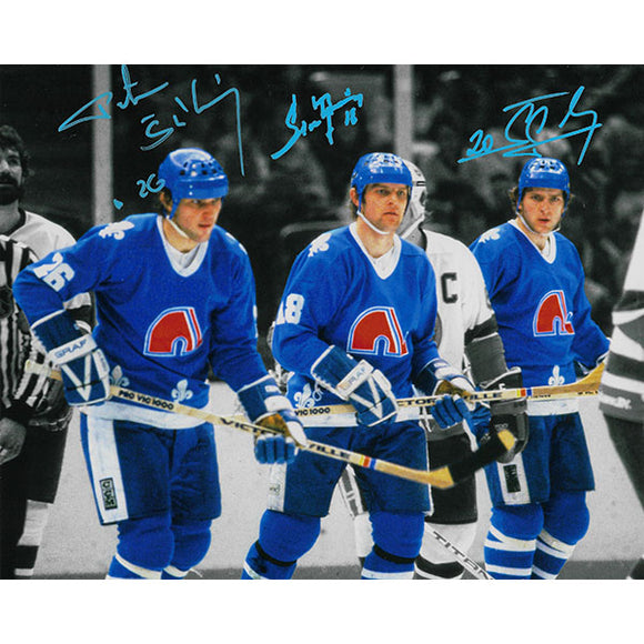 Stastny Brothers Autographed Quebec Nordiques 8X10 Combo Photo