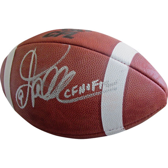 Damon Allen Autographed CFL Football