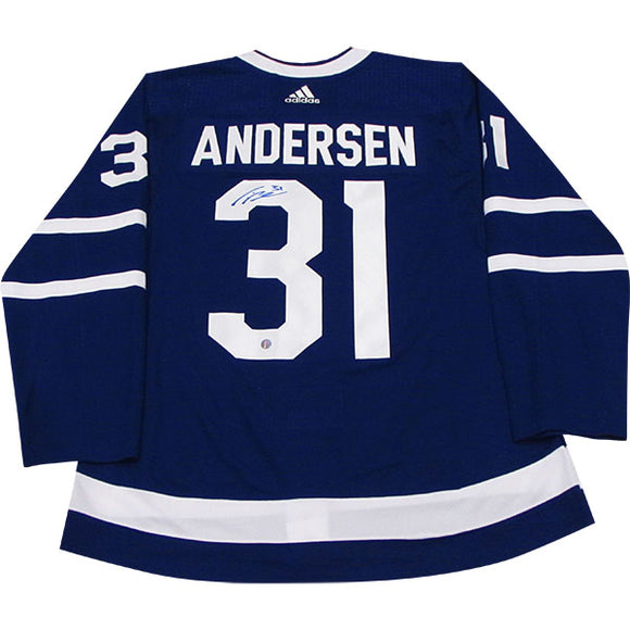 Frederik Andersen Autographed Toronto Maple Leafs Pro Jersey