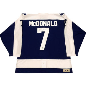 Lanny McDonald Autographed Toronto Maple Leafs Pro Jersey