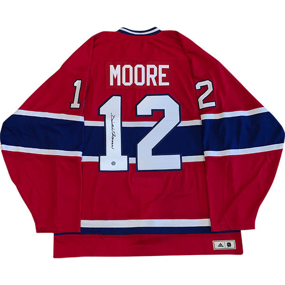 Dickie Moore (deceased) Autographed Montreal Canadiens Pro Jersey
