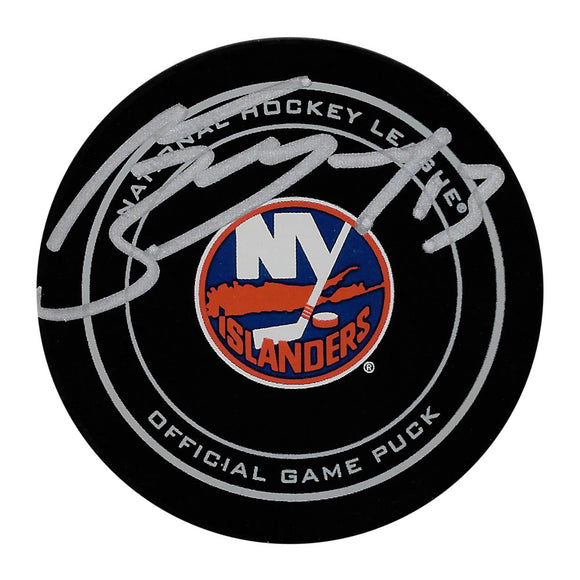 Mathew Barzal Autographed New York Islanders Official Game Puck