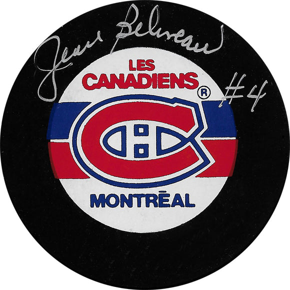 Jean Beliveau (deceased) Autographed Montreal Canadiens Puck