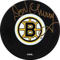 Don Cherry Autographed Boston Bruins Puck