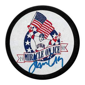 "Jim Craig Autographed Team USA ""Miracle On Ice"" Puck"