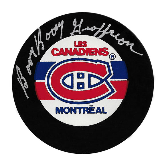Bernie Geoffrion (deceased) Autographed Montreal Canadiens Puck