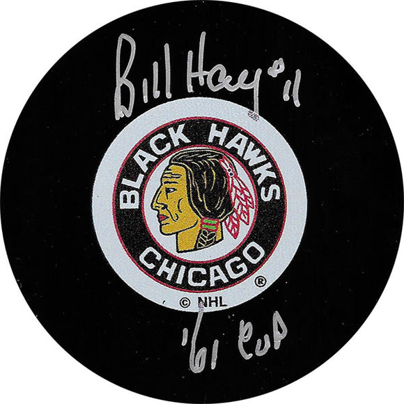 Bill Hay Autographed Chicago Blackhawks Puck