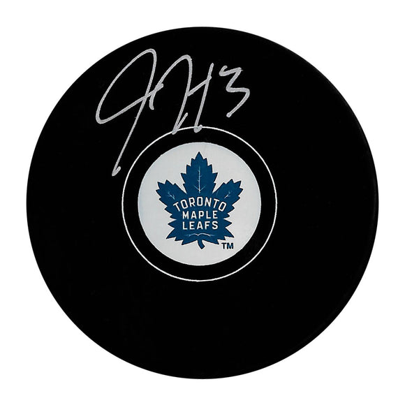 Justin Holl Autographed Toronto Maple Leafs Puck