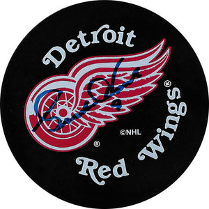 Gordie Howe (deceased) Autographed Detroit Red Wings Old Logo Puck