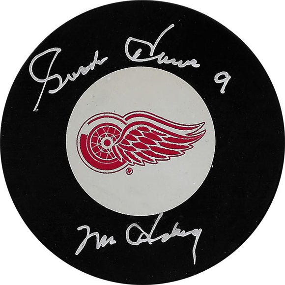 Gordie Howe (deceased) Autographed Detroit Red Wings Puck (w/Mr. Hockey)