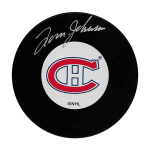 Tom Johnson (deceased) Autographed Montreal Canadiens Puck