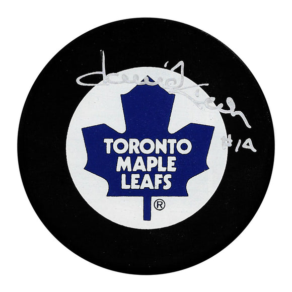 Dave Keon Autographed Toronto Maple Leafs Puck