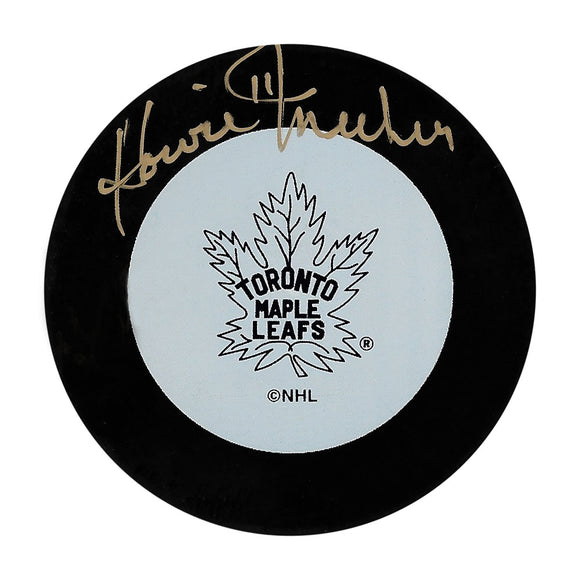 Howie Meeker (deceased) Autographed Toronto Maple Leafs Puck