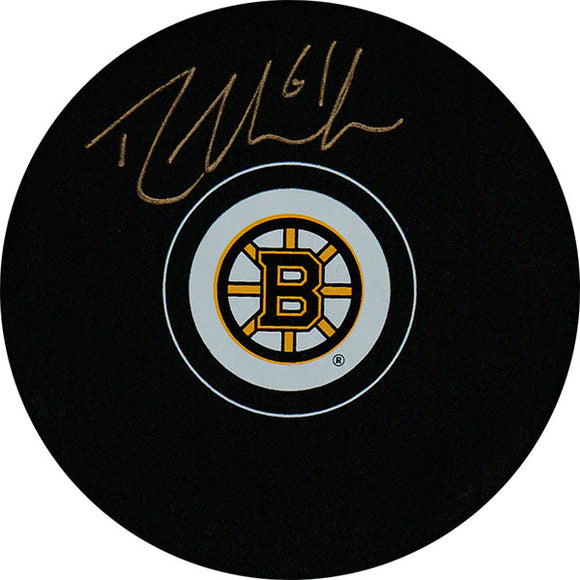 Rick Nash Autographed Boston Bruins Puck
