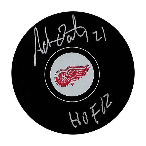 Adam Oates Autographed Detroit Red Wings Puck