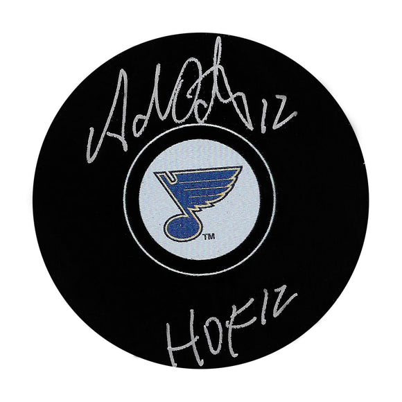 Adam Oates Autographed St. Louis Blues Puck