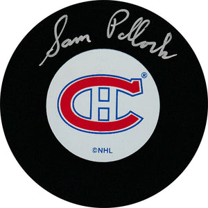 Sam Pollock (deceased) Autographed Montreal Canadiens Puck