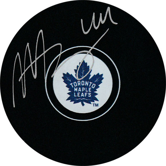 Morgan Rielly Autographed Toronto Maple Leafs Puck