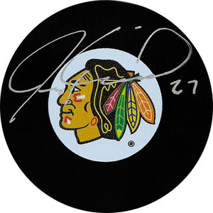 Jeremy Roenick Autographed Chicago Blackhawks Puck