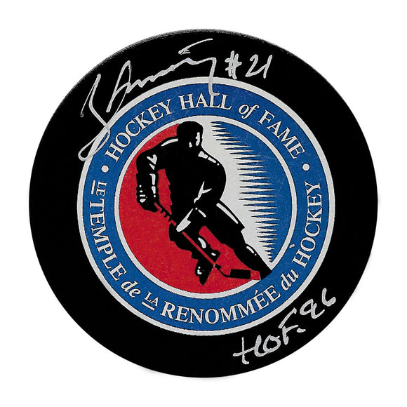 Borje Salming Autographed Hockey Hall of Fame Puck