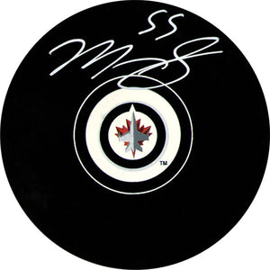 Mark Scheifele Autographed Winnipeg Jets Puck