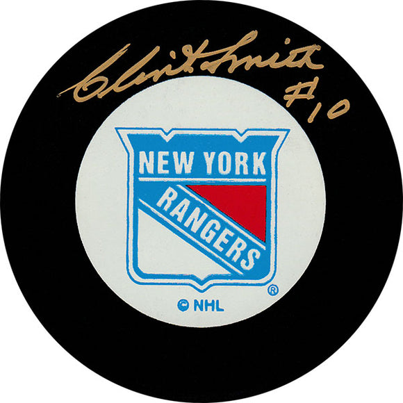 Clint Smith (deceased) Autographed New York Rangers Puck