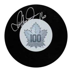 Darcy Tucker Autographed Toronto Maple Leafs Centennial Puck
