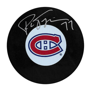 Pierre Turgeon Autographed Montreal Canadiens Puck