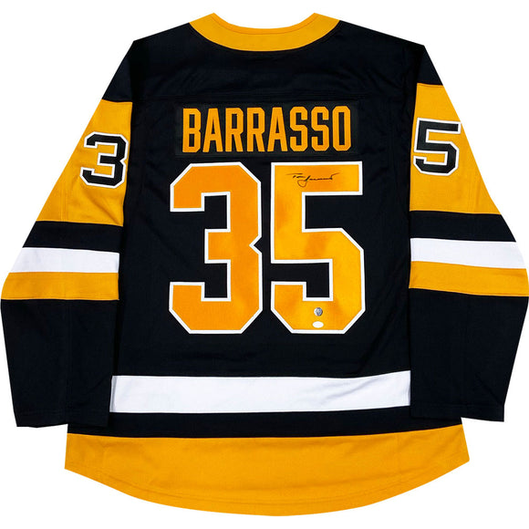 Tom Barrasso Autographed Pittsburgh Penguins Replica Jersey