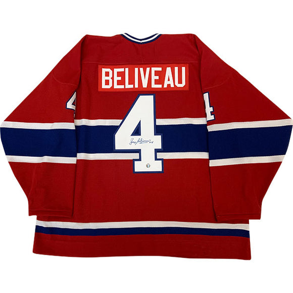 Jean Beliveau (deceased) Autographed Montreal Canadiens Replica Jersey