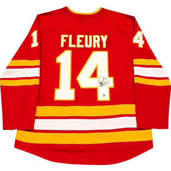 Theoren Fleury Autographed Calgary Flames Replica Jersey