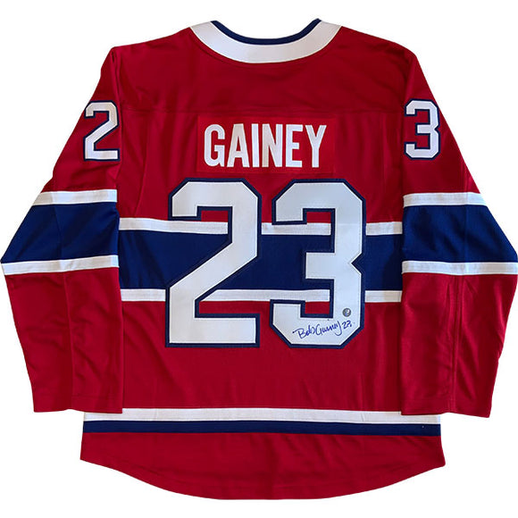 Bob Gainey Autographed Montreal Canadiens Replica Jersey