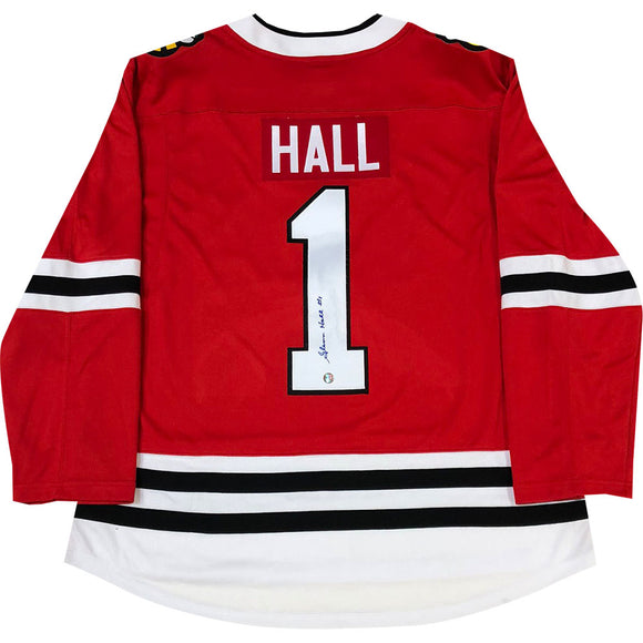 Glenn Hall Autographed Chicago Blackhawks Replica Jersey