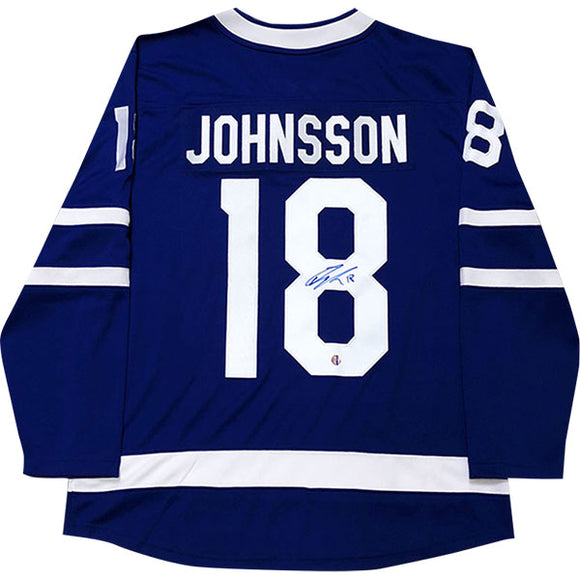 Andreas Johnsson Autographed Toronto Maple Leafs Replica Jersey