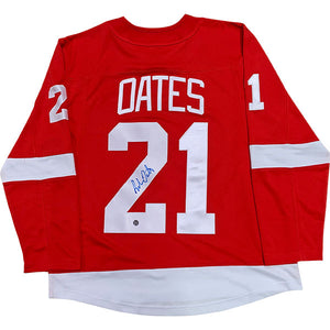 Adam Oates Autographed Detroit Red Wings Replica Jersey