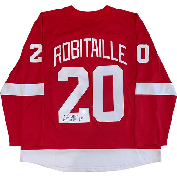 Luc Robitaille Autographed Detroit Red Wings Replica Jersey