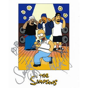 Cypress Hill Autographed 'The Simpsons' 8X10 Photo