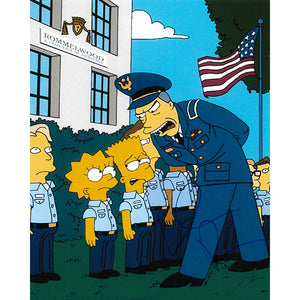 Willem Dafoe Autographed 'The Simpsons' 8X10 Photo