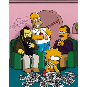 Merl Reagle (deceased) Autographed 'The Simpsons' 8X10 Photo
