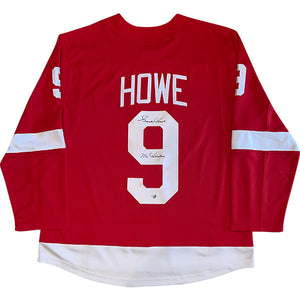 Gordie Howe (deceased) Autographed Detroit Red Wings Replica Jersey