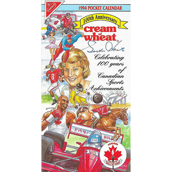 Gordie Howe Autographed 1994 Canada Sports Hall of Fame Pocket Calendar