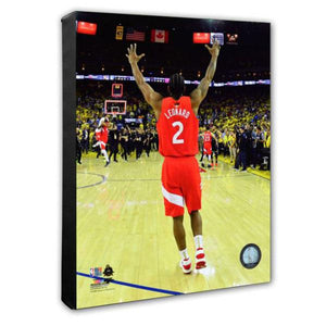 Kawhi Leonard 2019 Toronto Raptors 11X14 Stretched Canvas