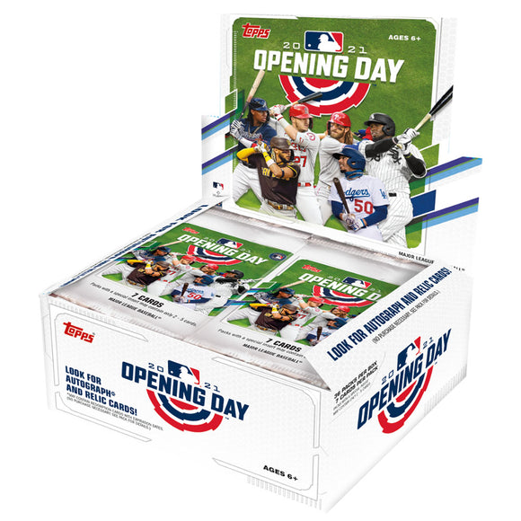 2021 Topps Opening Day Baseball Card Box