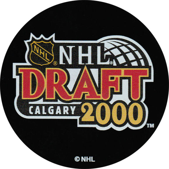 2000 NHL Draft Puck