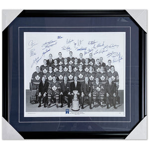 1967 Toronto Maple Leafs Framed Autographed 40th Anniversary Lithograph (AP67)
