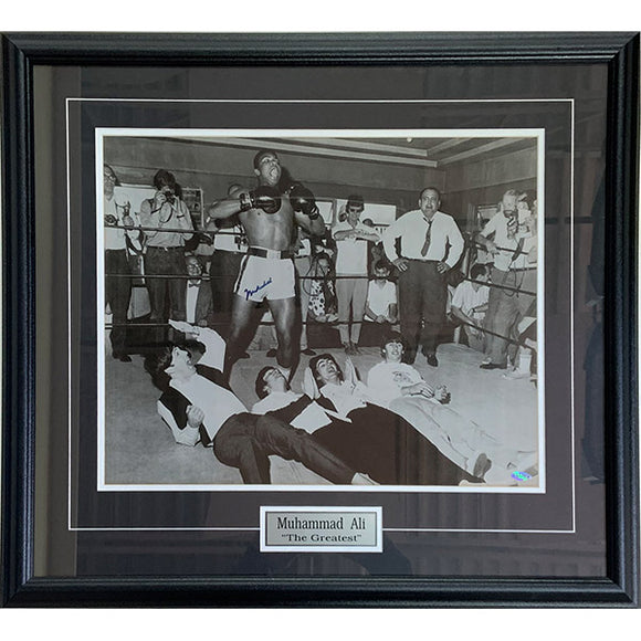 Muhammad Ali (deceased) Framed Autographed 16X20 Photo (w/The Beatles)