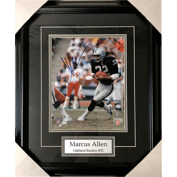 Marcus Allen Framed Autographed Los Angeles Raiders 8X10 Photo