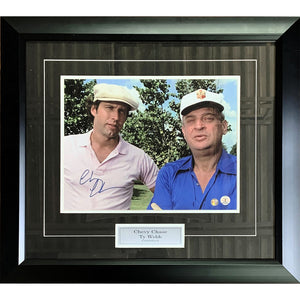Chevy Chase w/Rodney Dangerfield Framed Autographed 11X14 Caddyshack Photo